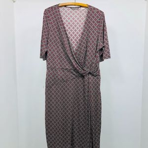 Tommy Bahama Dress 100% Silk Jersey Sz XL/16